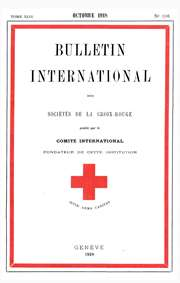Bulletin International des Societes de la Croix-Rouge